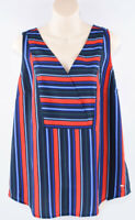TOMMY HILFIGER Women's Lightweight Striped Top, Red/Blue, sizes S or M