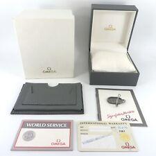 GENUINE OMEGA WATCH BOX GREY POLARIS SPEEDMASTER DEVILLE HARRODS WARRANTY CARD