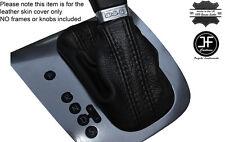 La peau en cuir noir stitch auto automatique dsg gear gaiter fits vw eos 2006-2013