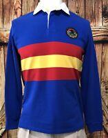 NWT Ralph Lauren Polo Country Men's Medium Rugby Shirt Sportsman Blue NEW $148