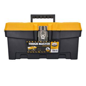 "Tough Master Tool Storage Box 16"" With Tote Tray"