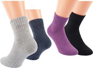 1 bis 6 Paar ABS Socken Anti Rutsch KURZSCHAFT Stoppersocken m. Wolle Angora Neu