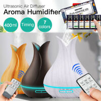 1-Remote Ultrasonic Aromatherapy Essential Oil Diffuser Fountain Air Humidifier
