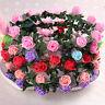 Girls Women Rose Flower Crown Headband Wreath Party Wedding Garland Headwear_US