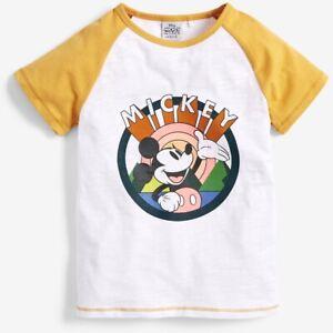 Next Girls Disney Mickey Mouse Short Sleeve T-Shirt NEW