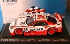 TOYOTA SUPRA #39 SARD IDC SUZUKA 1000 KM 2002 EBBRO 392 1/43 JAPAN