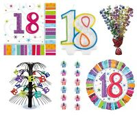 MULTI COLOUR - Age 18 - Happy 18th Birthday PARTY ITEMS Decorations Tableware