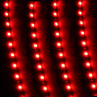 4 X 15 LED 30cm Car Auto Motor Flexible Waterproof Strip Light Red DC 12V Sales