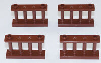 LEGO - 4 x Zaun Spindelzaun Gitter 1x4x2 braun / 30055 NEUWARE