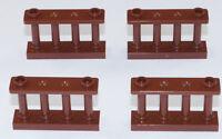 LEGO - 4 x Zaun Spindelzaun Gitter 1x4x2 braun / Fence Spindled / 30055 NEUWARE