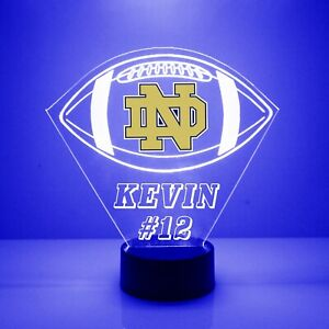 Notre Dame Fighting Irish, College Football LED Sports Fan Lamp, Personalized