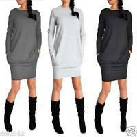 Womens Fashion Sweater Long Sleeve Stretch Party Bodycon Package Hip Dress