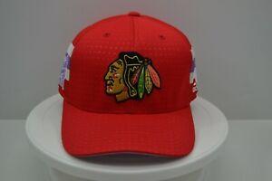 Chicago Blackhawks Adidas Hockey Fights Cancer Stretch Fit Hat Size L/XL NWOT
