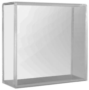 Inglasco Clear Acyrlic Hockey Puck Cube Display Case for Single Puck