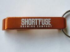 Metal Key Chain Bottle Opener ~ SHORT FUSE Brewing Co. ~ Schiller Park, ILLINOIS