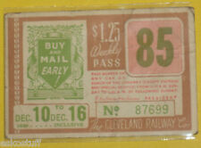 Cleveland Railway Company 1939 Weekly Trolley Pass #85 Buy & Mail Early Graphic