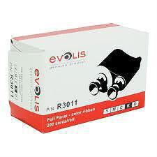 Evolis High Trust R3011 YMCKO Full Panel Colour Ribbon - 200