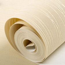 10m Roll 3d Glitz Glitter Striped Pattern Line Embossed Vinyl Plain Wallpape SK Yellow