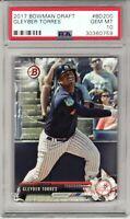 2017 Bowman Draft #BD200 Yankees Card Rookie GLEYBER TORRES PSA Gem MINT 10
