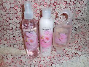 Cherry Blossom Collection Avon Senses Body Care Sh Gel,Body Spray & Lotion