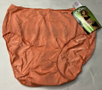 Vintage Jockey Nylon Bikini Panties Orange Size 6 Made In Hong Kong (R4)