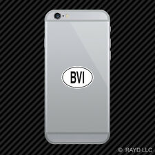 BVI British Virgin Islands Country Code Oval Cell Phone Sticker Mobile