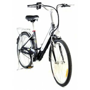 "Electric Bike 24"" - 250W Brushless Motor - Black - Z5 City Deluxe"