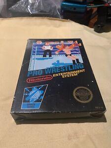 Pro Wrestling -ORIGINAL- Nintendo NES CIB Complete in Box Black Box