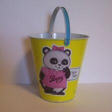 Shirt Tales Pail Bucket Panda Pammy Tiger TYG Ohio Art Tin Hallmark 1981