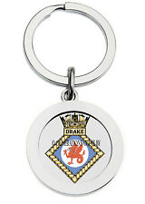 HMS DRAKE KEY RING (METAL)