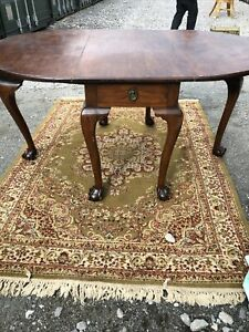 Vintage Mahogany Extending Dining Table Ball And Claw Feet With Drawer