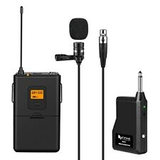 Fifine 25-Channel UHF Wireless Lavalier Lapel Microphone System Bodypack  K037
