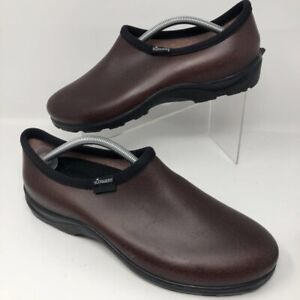 Sloggers Mens Garden Shoes Brown All Day Comfort Waterproof Slip On 11