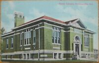 1913 Postcard: Public Library- Connersville, Indiana IN