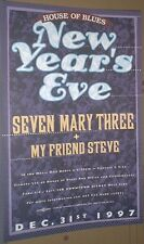 Seven Mary Three RARE 1997 NEW YEAR'S EVE CONCERT GIG POSTER 7M3/7 3/no-cd/lp