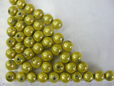 50 PERLES MIRAGE /MIRACLE /MAGIQUE 8mm VERT ANIS A143