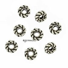 20 Bali Sterling Silver Rope Rondelle Spacer Beads 3.7mm #97739