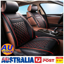 AUS 2Pcs Waterproof 3D Front Seat Cushion PU Leather Full Cover Car Protector