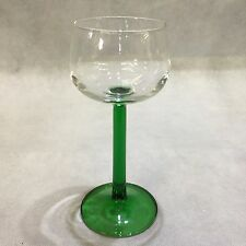 1970s Retro Vintage Tall Alsace Green Straight Stemmed Wine Glass Fab Condition