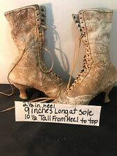 Victorian Ara Ladies High Top Shoes. Tan Color Used.