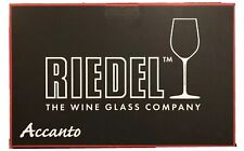 Riedel Accanto Red Wine Lead Crystal Hand Blown Wine Glasses Set Of 4 Germany