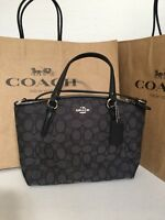 NWT Coach F57830 Mini Kelsey Signature Crossbody Shoulder Purse Black Smoke   225 29f67389f2