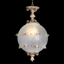 "Capodimonte Swag Ceiling Globe Fixture with 2 Lights 22"" H x 12"" W Brown & Gold"