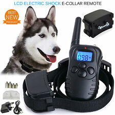 Electric Shock Dog E-Collar Training Remote Controller Anti-Bark Rechargeable UK