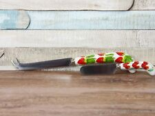 Orchard fruits cheese cutter and spreader set with ceramic handle