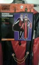 NWT-Totally Ghoul Womens Black & Red 2pc Gothic Vampiress Halloween Costume #191