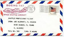 1980 Boeing 747 Space Shuttle Aircraft Algranti Haugen Scobee Ypung Alvarez USA