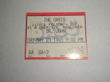 DR. JOHN ~ Ticket Stub May 23, 1985 ~ The Oasis in San Francisco ~ EXCELLENT