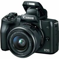EOS M50 Mirrorless Digital Camera with 15-45mm Lens (Black) Stock in UK