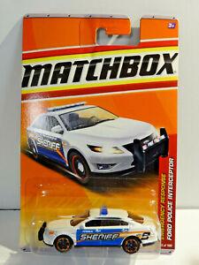 MATCHBOX EMERGENCY RESPONSE - WHITE FORD POLICE INTERCEPTOR